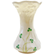 Belleek Vase with Shamrocks, Second Green Mark