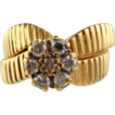 Diamond 14kt Yellow Gold Ring, Wedding Set, Size 7 1/2
