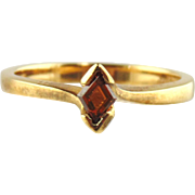 Reddish Brown Diamond 18kt Yellow Gold Ring, Size 7