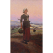 Original Oil Painting of a Woman by Farsky, Signed