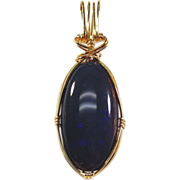 14kt Yellow Gold Pendant With Large Oval  Opal-20.73cts