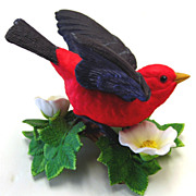 Lenox Porcelein Figurine of A Scarlet Tanager / Bird