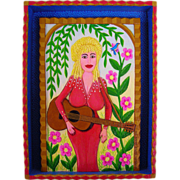 Dolly Parton by Carolyn Lloyd Swain - Painting & Low Relief Carving
