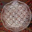 American Cut Glass Berry Bowl - Unusual Design