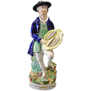 Early 19th Century Staffordshire Figure of A Fish Vendor