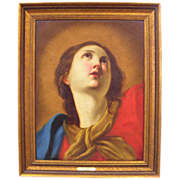 Mary Magdalene  -  Antique Oil Painting - 18th / 19th Century