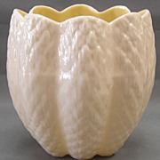 Tulip Shaped Vase - Irish Belleek - 3rd Green Mark