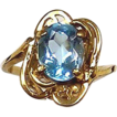 Blue Topaz 14kt Yellow Gold Ring, Size 5