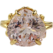Lavendar / Pink Pear Shaped Kunzite - 10.99cts - Ring 14kt Gold
