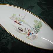 Hutschenreuther-Selb  Long Oval Bowl, Paris Scene