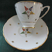 "Vintage Royal Stafford ""Order of the Eastern Star"" Cup & Saucer"