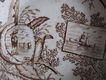 1800s England Child's Ironstone Brown Transferware China Dish