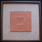 Picasso Madoura Plaque � Square Potters Mark with Runner