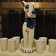 Rye Dog Decanter with Blue Bow