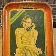 1930 Telephone Girl Coke Tray