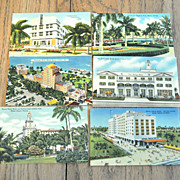 Miami Beach Hotel Postcards