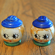 SALE PENDING Girl Face Salt Pepper Set