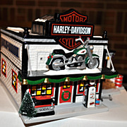 Harley Davidson Motorcycle Shop - Dept 56