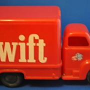 Swift Red Plastic Delivery Truck