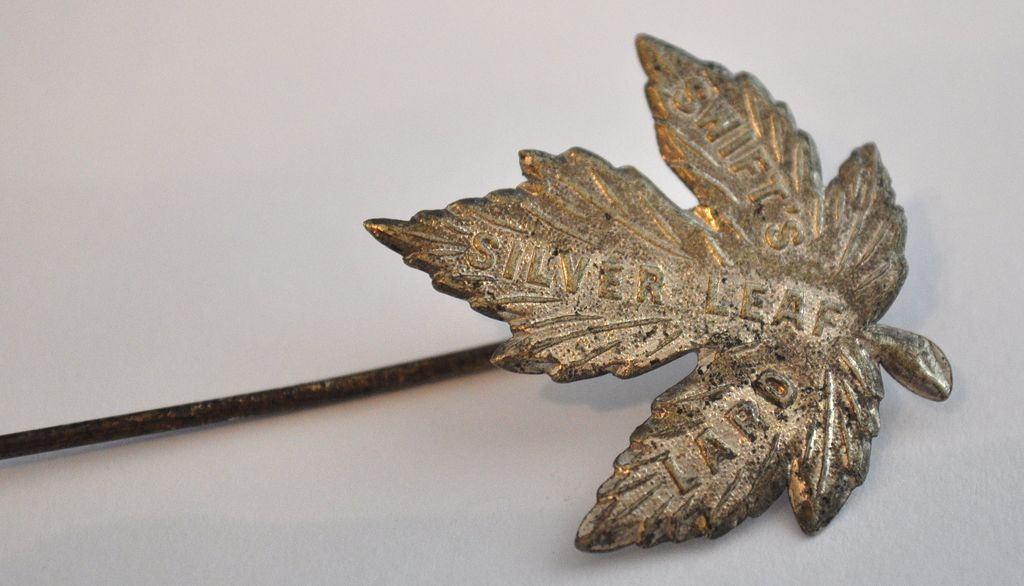 Swift Silver Leaf Stick Pin
