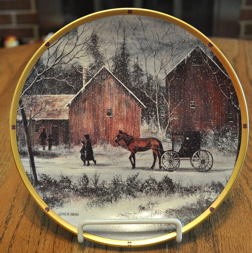 snowy day   plain folk plate  issued in 1993 and done by al koenig here is a