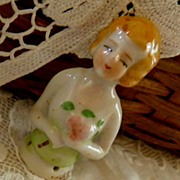 SALE Sweet Little Vintage Porcelain Half Doll