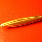 Two Edwardian Bar Collar Pins Gold Wash Pat 1908. 1910