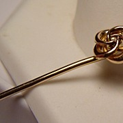 Victorian Knot Diamond Stickpin 14K Gold