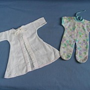 Vintage Smaller Robe And PJ's For Your Tiny Baby Circa 1960's
