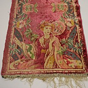 Antique Oriental Velvet Tapestry Turn Of The Century