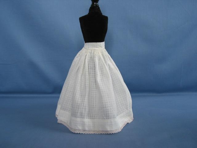 Antique Lawn Petticoat For Slim Waisted Doll Circa 1905