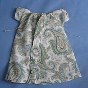 Early Hand Made Paisley Dress Circa 1930s