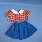 REDUCED Vintage Skirt And Top For Your Doll Or Bear  Circa 1960s