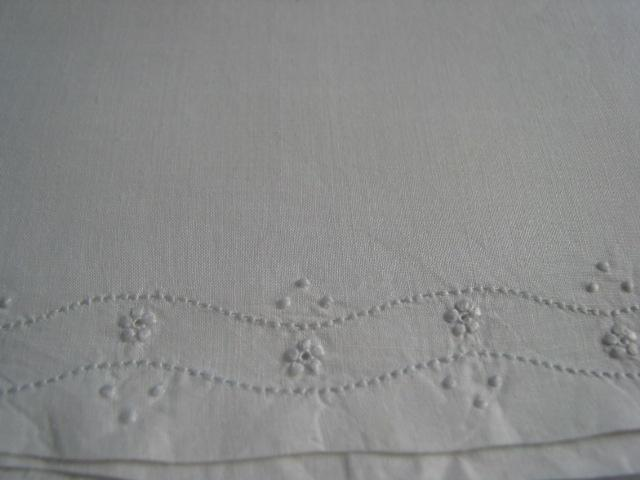 Vintage French Cotton Baby Sham   Circa 1930s
