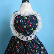 Vintage Hand Made Pinafore For Your Bear Or Doll CA 1970s