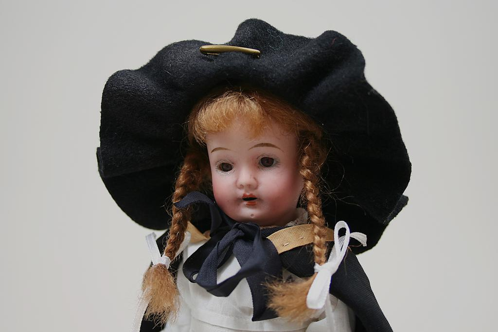 Antique German  Bisque Head Small Child Doll Circa 1890s