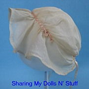 REDUCED Vintage Sheer Muslin Bonnet  Circa 1920s