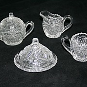 Early Depression Glass Cambridge Sweetheart Child Table Set