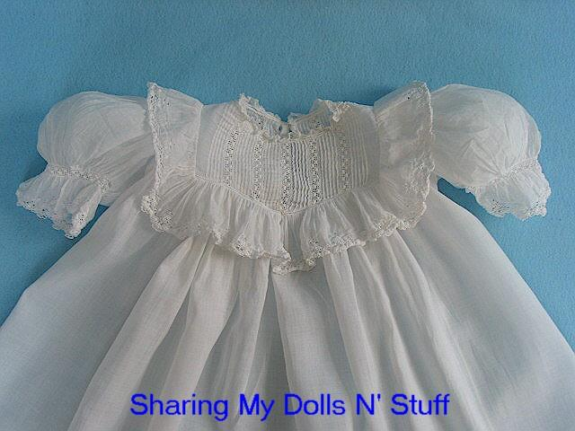 Antique Fancy Batiste Child Dress Circa 1890s