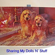 REDUCED Vintage Postcard of Cocker Spaniels  Circa 1960s