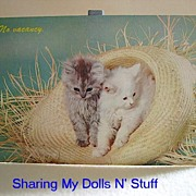 REDUCED Vintage Kitten Postcard Made By Dexter Circa 1950s