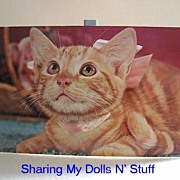REDUCED Vintage Dexter Postcard of Tabby Kitten Circa 1960s