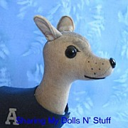 Vintage Hand Made Felt Great Dane Dog