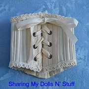 Antique French BeBe Doll Corset  Circa 1860s
