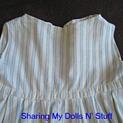 Early Doll Flannel Full Slip Circa 1940s