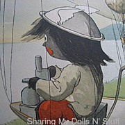 SALE Golliwogg Air Ship Print Copyright 1902