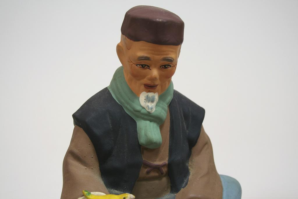 Vintage Hakata Figure Of Old Man Circa 1950s