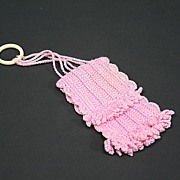 SALE Vintage Crocheted Doll Purse Circa 1950s