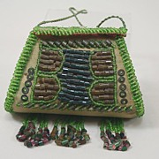 Antique Iroquois Beaded Doll Purse Circa 1900s