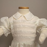 Antique Lawn Dress For Your Larger Doll Circa 1900s